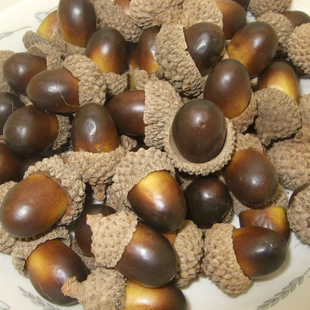 10pcs Of Beautiful Acorns Mini Artificial Foam Fruit And Vegetables Fruits Home Wedding Christmas Tree Decoration