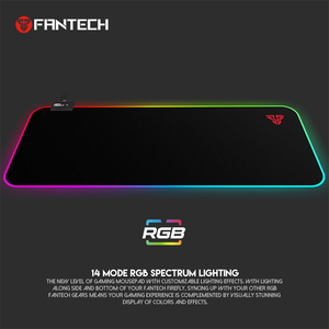 Image 2 - FANTECH MPR800S RGB Large Mouse Pad Profession USB Cable Mousepad Smooth Surface With Locking Edge For FPS LOL Gaming Mive Pad