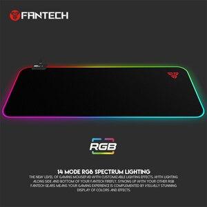 Image 2 - FANTECH MPR800S RGB duża podkładka pod mysz zawód kabel USB podkładka pod mysz gładka powierzchnia z zabezpieczona krawędź dla FPS LOL Gaming Mive Pad