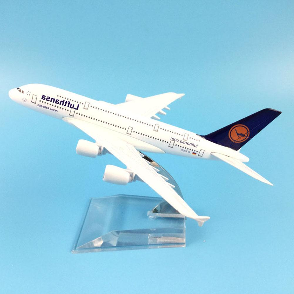 Air Lufthansa <font><b>A380</b></font> Airlines Airplane <font><b>Model</b></font> <font><b>Airbus</b></font> 380 Airways 16cm Alloy Metal Plane <font><b>Model</b></font> w Stand Aircraft <font><b>Model</b></font> Plane image