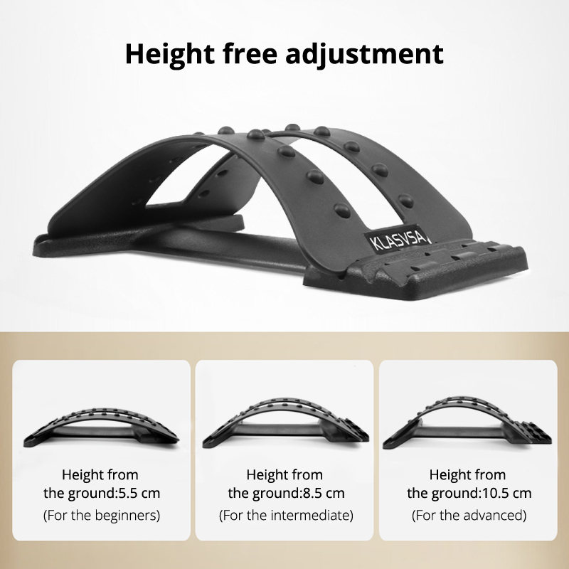 KLASVSA Back Stretcher Massager Neck Waist Pain Relief Magic Support Massage Home Muscle Stimulator Relaxation Fitness