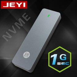 JEYI I9 GTR NVME Aluminium TYPEC3.1 Mobile HDD Kotak Optibay HDD Jenis C3.1 RTL9210 M. 2 USB3.1 M.2 PCIe SSD U.2 PCI-E Typec