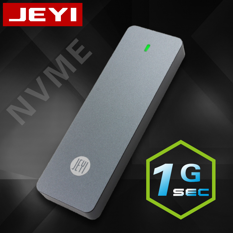 JEYI I9 GTR NVME Aluminium TYPEC3.1 Mobile Hdd Box Optibay Hdd Case TYPE C3.1 RTL9210 M. 2 USB3.1 M.2 PCIE SSD U.2 PCI-E TYPEC