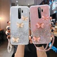 Funda de teléfono para Xiaomi de silicona con purpurina para Redmi Note 9, 8, 7, Mi 11, 10, 9 T, 8 Lite Pro, funda de cuerda ultrafina