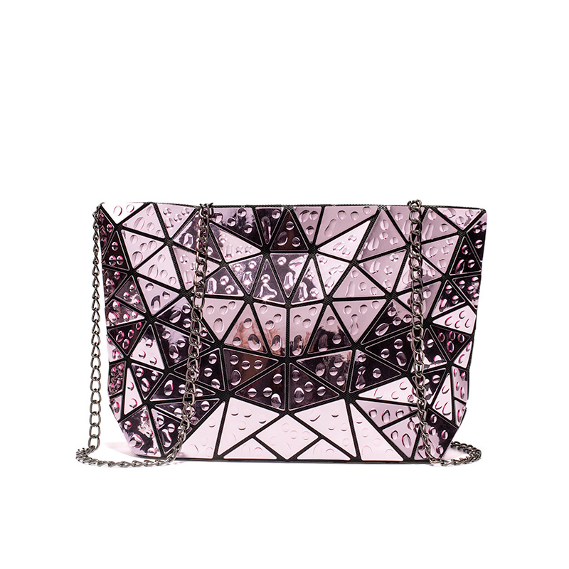 Women Crossbody Bags 2019 Foldable Messenger Bag For Ladies Chain Shoulder Bag Female Geometric Holographic Reflective Bag Laser