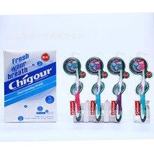 Chigour 722 кисть с обеих сторон мягкий шелконе дизайн буфера неправильные усилия мягкая Щетинная зубная щетка