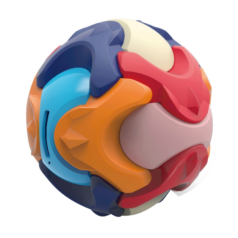 Kids Educational Puzzle Toy Building Blocks Assembled Round Coin Money Bank Box Ball Children Early Learning Gifts
