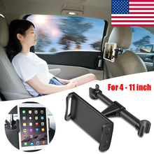 Rotary Universal 360° Rotation Car Headrest Mount Tablet Stand Holder 4-11 Inch Tablet PC Seat Car