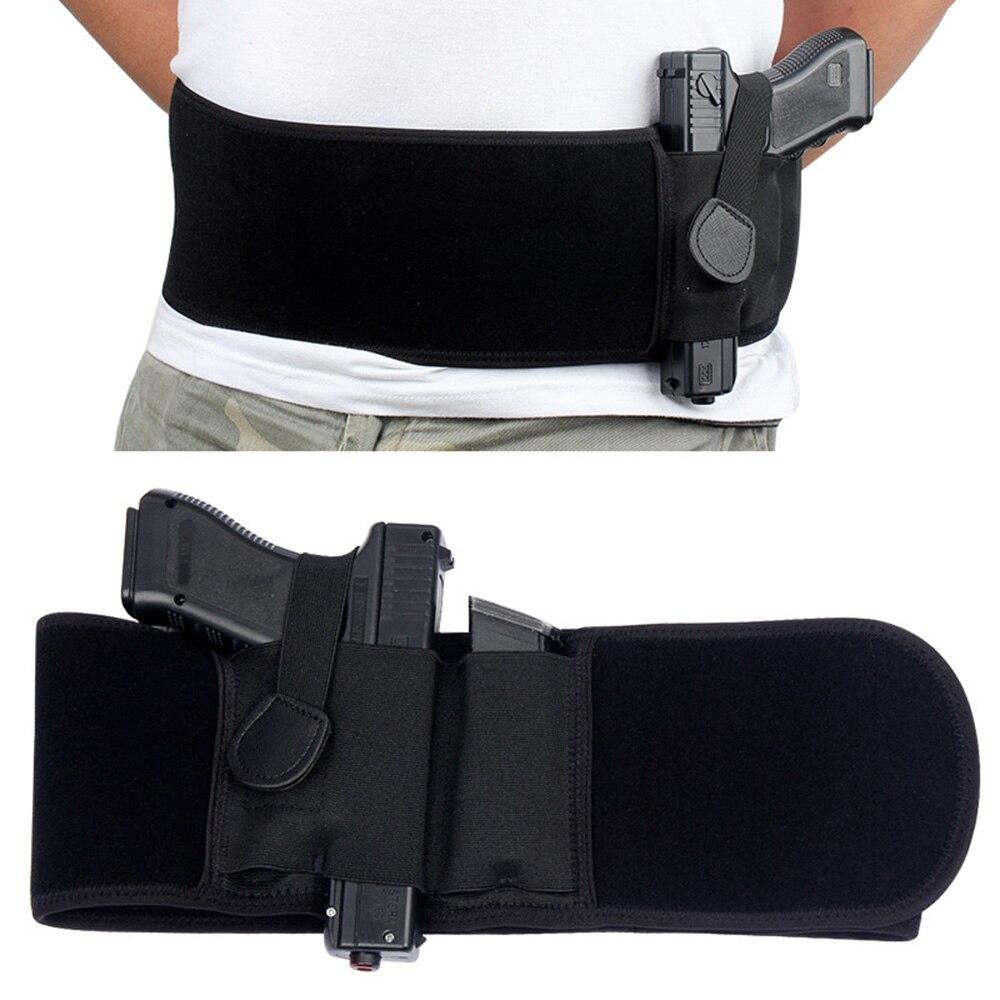 טקטי בטן להקת הסתיר לשאת אקדח נרתיק ימין יד אקדח אוניברסלי בלתי נראה אלסטי מותניים אקדח נרתיק אבנט חגורה