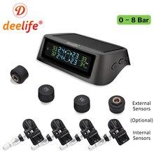Sensor externo interno do monitor de pressão dos pneus do carro de tmps da barra 0 116 psi 0 8 sistema de monitoramento da pressão dos pneus de deelife tpms