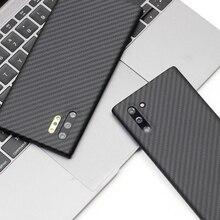 Ultra cienki magnes z włókna węglowego do Samsung Note 10 Plus skrzynki pokrywa z włókna aramidowego do Galaxy Note 20 Ultra Note20 okładka