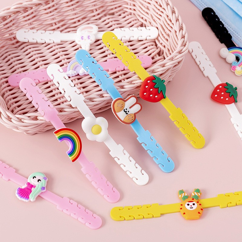 Cartoon Silicone Hook Strap Holder Extension For Mask Ear Protector Soft Anti-tightening Ear Buckle Accessories For Kids Child(China)