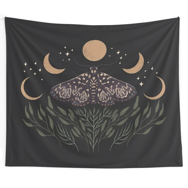 Moon Phase Printed Tapestry 3