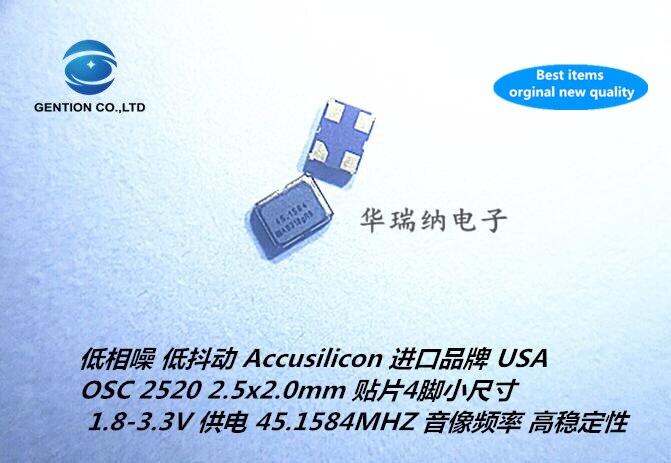 5pcs 100% New And Orginal AS318 OSC 2520 2025 Low Jitter Active Crystal 45.1584M 45.1584MHZ