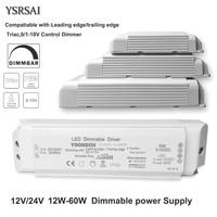 Controlador LED regulable AC 220V DC12V/24V 20W 40W 60W Triac y 0-10V, atenuación 2 en 1, fuente de alimentación, transformador de iluminación