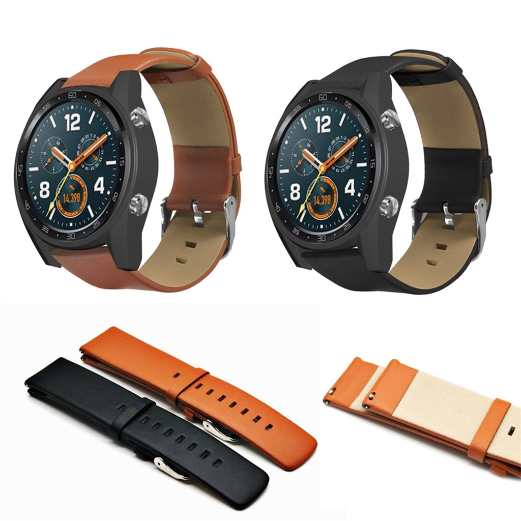 Watchband Replacement Smartwatch Band Replacement Leather Watchband Straps for Huawei Watch GT Active 46mm Honor Magic Band