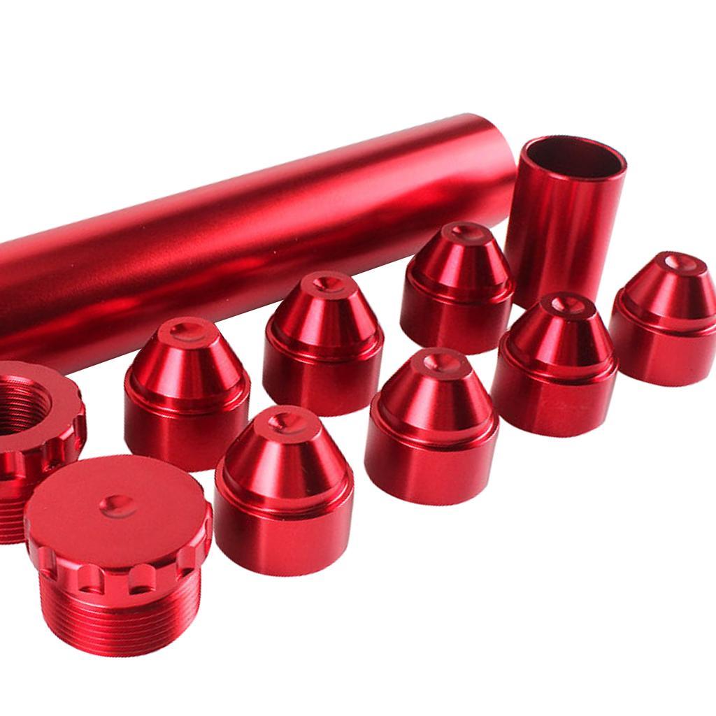 6 дюймов алюминиевый 1/2 ''-28 автомобильный топливный масляный фильтр Авто запасные части красный