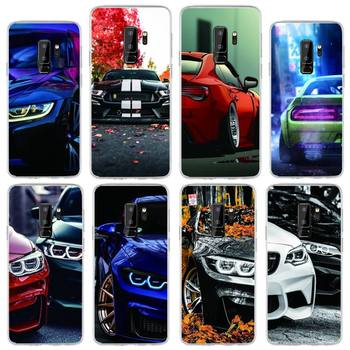 Red And Blue Bmw Car Phone Case For Samsung S10 S10lite 2019 S9 S9plus S8 S7 Transparent Cases image