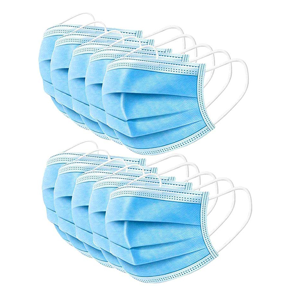 50pcs/Lot Disposable Mask Protective Mask Soft & Comfortable Filter Safety Face Mask for Dust ProtectionMasks   -