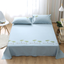Cotton embroidered sheets thick twill 3 Piece Hotel Luxury Soft Bed Sheets Set Hypoallergenic Wrinkle & Fade Resistant Bedding