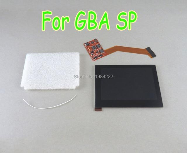 สำหรับNintendo Game Boy Advance SP GBA SP AGS 101 IPSหน้าจอLCD Backlit Brighter Replacementหน้าจอไฮไลต์