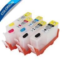 5 stücke Für HP 564 564XL Nachfüllbare Tinten Patrone Für HP Photosmart B8550 C5380 C6380 C6340 C6375 D5445 D5460 D7560 mit ARC Chips