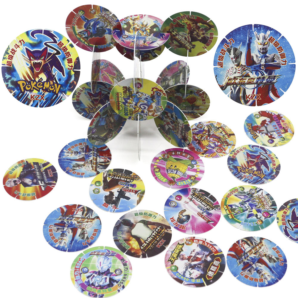 Takara Pokemon Cards Collections Plastic Plants Zombies PUBG Ultraman Wings Card Blocks Snowflake Collections PVC Children Toys