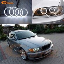 Cho Xe BMW E46 Chuyển Đổi Coupe 2004 2005 2006 LCI Đèn Pha Cực Tốt Siêu Sáng CCFL Đôi Mắt Thiên Thần Hào Quang Nhẫn Kiểu Dáng Xe