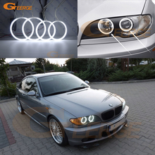 For BMW E46 Convertible Coupe 2004 2005 2006 LCI headlight Excellent Ultra bright CCFL Angel Eyes halo rings Car styling