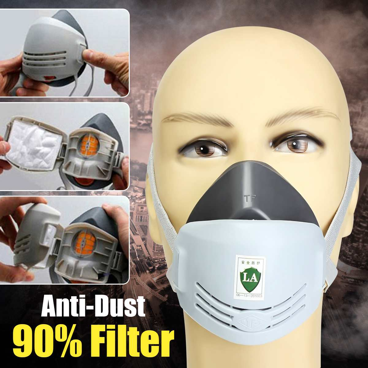 Anti Dust Smog Mask Respirator Pollution Mask Anti Air Dust And Smoke Masks For Welder Welding Paint Spraying Cartridge Gas Mask