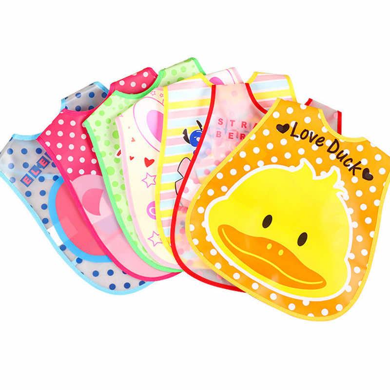 아기 Bibs 조정 가능한 플라스틱 방수 점심 먹이 Bibs 아기 만화 먹이 헝겊 어린이 앞치마 Burp Cloth 소녀 소년 Bibs