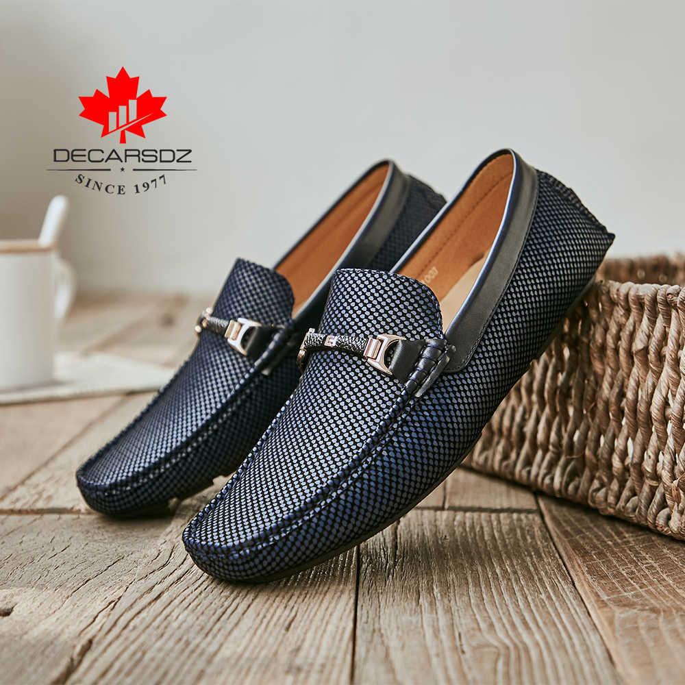 2020 yeni tekne ayakkabı erkekler İlkbahar & yaz marka deri erkek ayakkabıları loafer'lar rahat Slip-On gündelik erkek ayakkabısı Moccasins