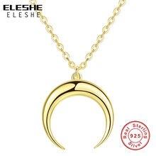 ELESHE auténtico 100% de Plata de Ley 925 torero exquisito mujeres Luna colgante collar de lujo de oro de moda regalo de la joyería