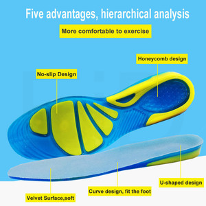 Image 3 - EiD Silicon Gel Insoles for feet Plantar Fasciitis Heel Spur Running Sport Insoles Shock Absorption Pads arch orthopedic insole