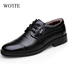 Winter Mens Shoes Fashion Men Genuine Leather Casual Shoes Business Plus Cashmere Warm Cotton Shoes With/No Fur chaussure homme
