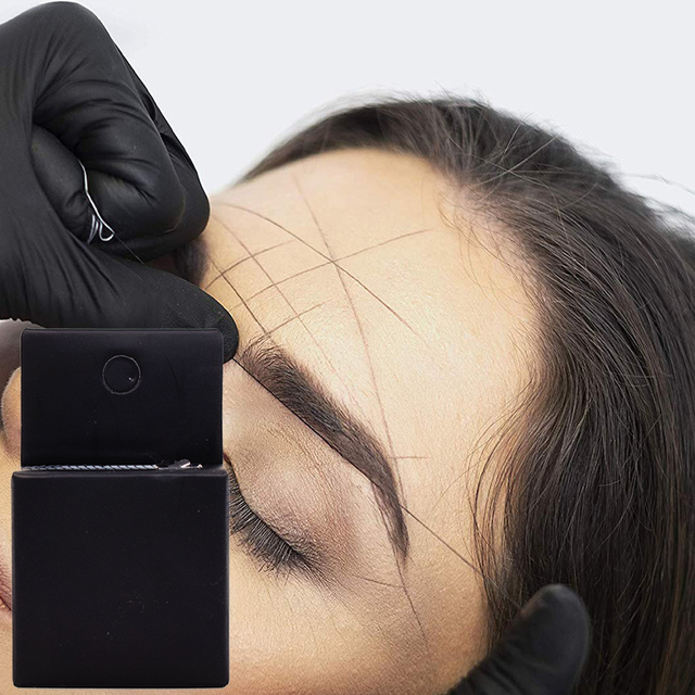 Pre-Inked Microblading String for Brow Mapping - Measuring Tool for Marking Symmetrical Eyebrows 1