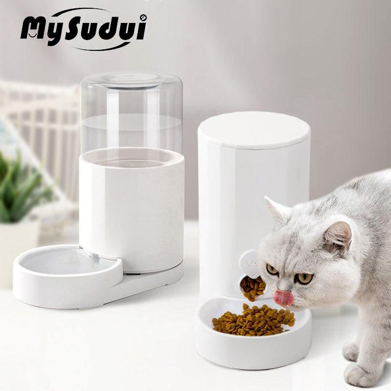 2.5L kot domowy podajnik automatyczna woda i miska na karmę butelka z dozownikiem Auto antypoślizgowe Dla kotów Puppy psy karmienie picie Dla Kota