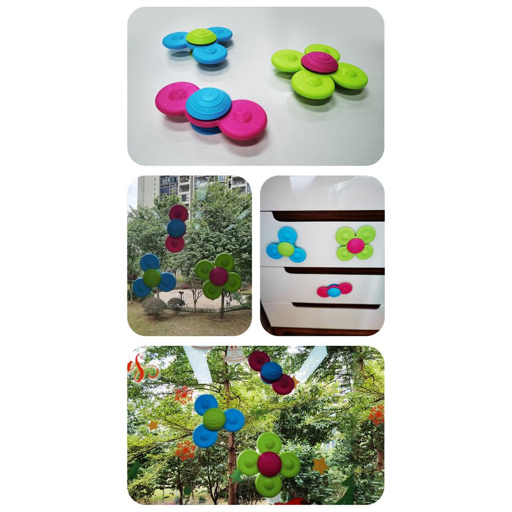 Baby Toys Zhuan Zhuanle Suction Cup Toys Top Toys 3 Sets Of Decompression Tops Fingertip Tops enlarge