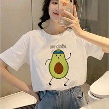 Лидер продаж женская летняя футболка с авокадо Забавный принт