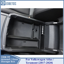 Armrest Box Storage For Volkswagen Teramont 2017   2020 Atlas Stowing Tidying Organizer For Volkswagen Internal Accessories