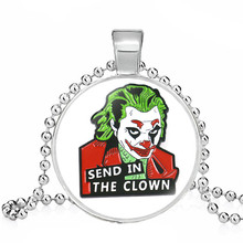 Film d'horreur Stephen King's IT colliers Joker Clown Pennywise Figure pendentifs collier Halloween Cosplay collier bijoux cadeau(China)