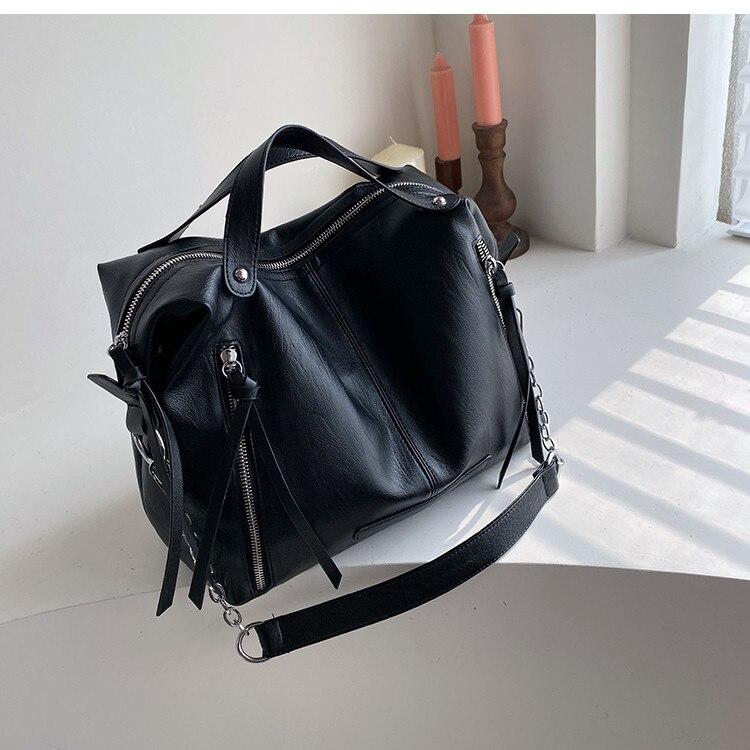motocicleta couro do plutônio feminino crossbody sacos grandes totes bolsa