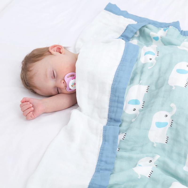 Baby Bath Towel Muslin Cloth Kids Bathrobe Child Blanket Wrap For Newborn Infant Toddler Boys Girls Gauze Cotton 105*105cm