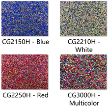 Acrylic (PMMA) 2 Sided Chunky Glittering Sheets 3.0mm for Jewelries, Crafts, Art Works, Decoration   4 Colors/3 Sizes available