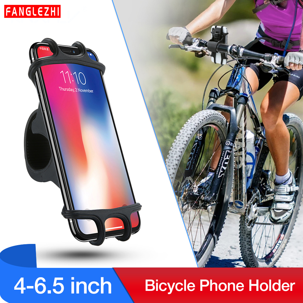 Bicycle <font><b>Phone</b></font> <font><b>Holder</b></font> For iPhone X 8 Plus XR XS Max <font><b>Bike</b></font> <font><b>Phone</b></font> <font><b>Holder</b></font> For 4-6.2 inch Devices For <font><b>Samsung</b></font> <font><b>S9</b></font> Plus Galaxy Note 8 9 image