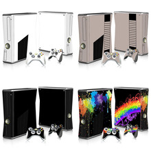 Skin Sticker Protector for Microsoft Xbox 360 Slim and 2 Controller Skins Stickers