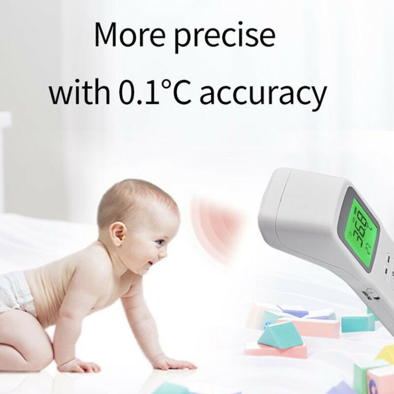 Digital LCD Thermometer Infrared Forehead Non-touch Baby&Adult Temperature Gun