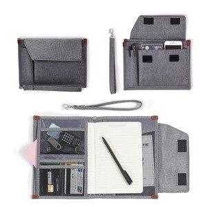 Waterproof Men's Business Office Bag Women's Document Bag Portable Oxford Notebook Pouch Passport Cover Accessories Supplies
