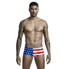 Мужские трусы боксеры с низкой посадкой флагом