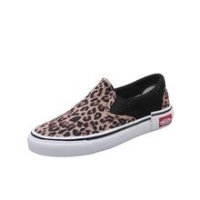 Leopard Canvas Shoes Women Flat Platform Sneakers W